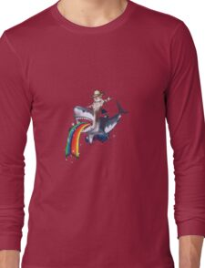 Bucking Sharkaroo Puking Rainbow Long Sleeve T-Shirt