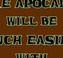 Renewable Energy for the Zombie Apocalypse Sticker