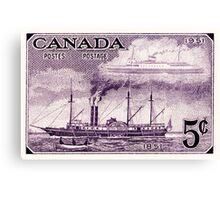 Canada postage stamp, 1951, steamship Canvas Print
