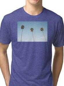 Summer palm trees Blue Tri-blend T-Shirt