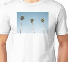 Summer palm trees Blue Unisex T-Shirt