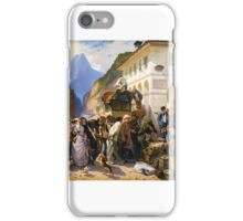 Pierre François Eugene Giraud - Italian Customs at Simplon iPhone Case/Skin