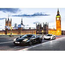 McLaren MP4-12C at London Big Ben  Photographic Print