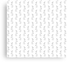 Snowshoe Hare Repeat Pattern Canvas Print