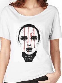 Black Swan Illustration Women's Relaxed Fit T-Shirt