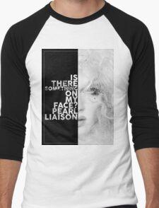 Pearl Liaison Text Portrait Men's Baseball ¾ T-Shirt