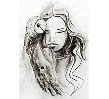 girl Owl Photographic Print
