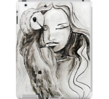 girl Owl iPad Case/Skin