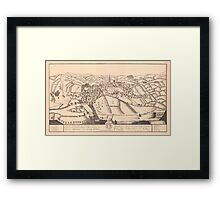 North perspective view of Sheffield, Yorkshire, c. 1730 Framed Print
