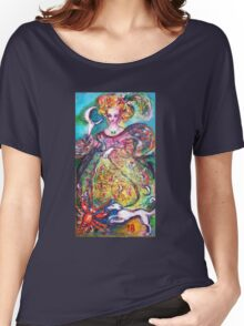TAROTS OF THE LOST SHADOWS / THE MOON LADY Women's Relaxed Fit T-Shirt