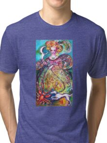 TAROTS OF THE LOST SHADOWS / THE MOON LADY Tri-blend T-Shirt