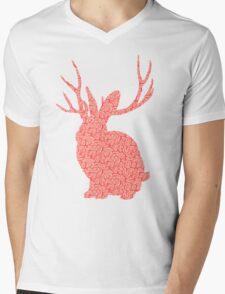 The Brains Rabbit Mens V-Neck T-Shirt