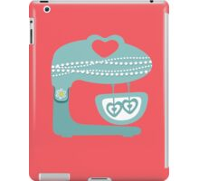 Girly baking stand mixer hearts pearls iPad Case/Skin
