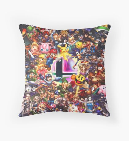 Smash Brothers Throw Pillow