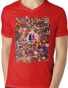 Smash Brothers Mens V-Neck T-Shirt