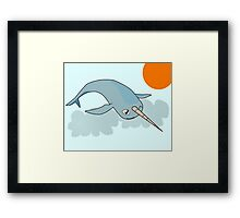 Narwhale in the sky Framed Print