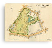 Weston Park, Sheffield, Yorkshire, 1897 Canvas Print