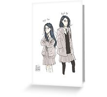 Two Toris Greeting Card