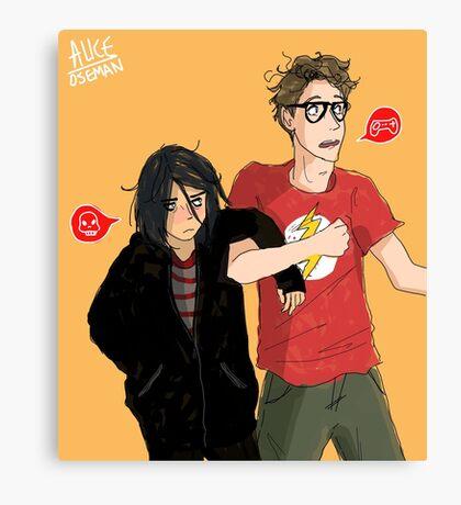 Emo & Geek Canvas Print