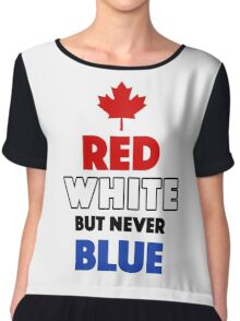 Red White But Never Blue T-Shirt Chiffon Top