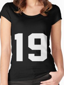 Team Jersey 19 T-shirt / Football, Soccer, Baseball Women's Fitted Scoop T-Shirt