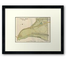 Map of Firth Park, Sheffield, 1897 Framed Print