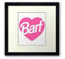 Barf Heart  Framed Print