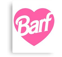 Barf Heart  Canvas Print