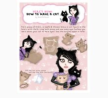 HERE'S HOW: HOW TO MAKE A CAT Womens Fitted T-Shirt