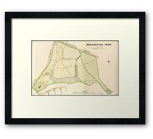 Map of Meersbrook Park, Sheffield, 1897 Framed Print