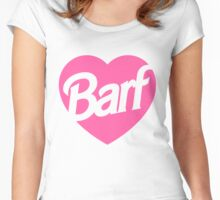 Barf Heart  Women's Fitted Scoop T-Shirt