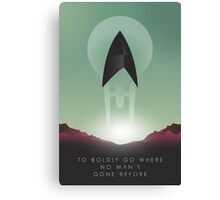 TO BOLDLY GO WHERE NO MAN'S GONE BEFORE Canvas Print