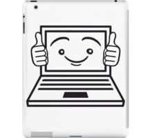 face funny thumbs hand press good best comic cartoon computer laptop notebook pc write screen mobile tablet iPad Case/Skin