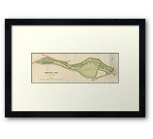 Map of Endcliffe Park, Sheffield, 1897 Framed Print