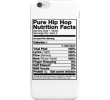 Pure Hip Hop Nutrition Facts iPhone Case/Skin