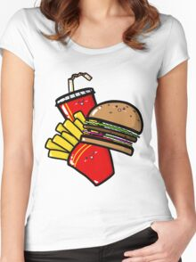 Burger'n'Fries Women's Fitted Scoop T-Shirt