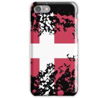 Denmark Flag Ink Splatter iPhone Case/Skin