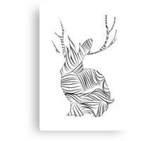 The Stripy Rabbit Canvas Print