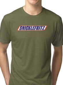 He's Getting the Snicklefritz Tri-blend T-Shirt