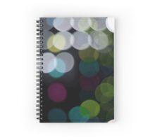 Colors Light Bokeh Effect Spiral Notebook