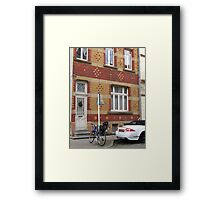 Decorative brick facade - Luxembourg Framed Print
