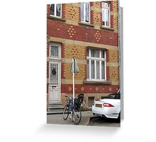 Decorative brick facade - Luxembourg Greeting Card