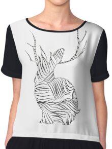 The Stripy Rabbit Chiffon Top