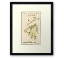 Map of Burngreave Recreation ground, Sheffield, Yorkshire, 1897 Framed Print