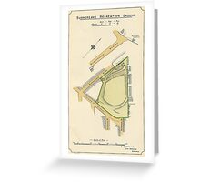 Map of Burngreave Recreation ground, Sheffield, Yorkshire, 1897 Greeting Card