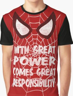 Spiderman Quote Graphic T-Shirt