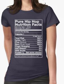 Pure Hip Hop Nutrition Facts Womens Fitted T-Shirt