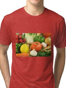Vegetables, Fruits, Ingradients and Spices  Tri-blend T-Shirt