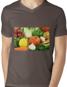 Vegetables, Fruits, Ingradients and Spices  Mens V-Neck T-Shirt