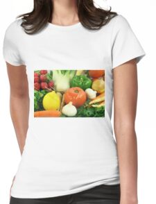 Vegetables, Fruits, Ingradients and Spices  Womens Fitted T-Shirt